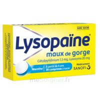 LysopaÏne Comprimés à Sucer Maux De Gorge Sans Sucre 2t/18 à ALES