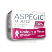 Aspegic Adultes 1000 Mg, Poudre Pour Solution Buvable En Sachet-dose 20 à ALES