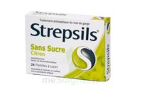 Strepsils Citron Sans Sucre, Pastille édulcorée à L'isomalt, Au Maltitol Et à La Saccharine Sodique à ALES