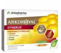 Arkoroyal Dynergie Ginseng Gelée Royale Propolis Solution Buvable 20 Ampoules/10ml à ALES
