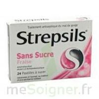 Strepsils Fraise Sans Sucre, Pastille édulcorée à L'isomalt, Au Maltitol Et à La Saccharine Sodique à ALES