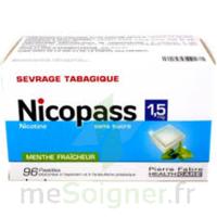Nicopass 1,5 Mg Pastille Sans Sucre Menthe Fraîcheur Plq/96 à ALES