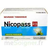 Nicopass 2,5 Mg Pastille Menthe Fraîcheur Sans Sucre Plq/96 à ALES