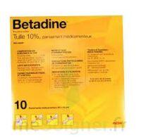 Betadine Tulle 10 % Pans Méd 10x10cm 10sach/1 à ALES