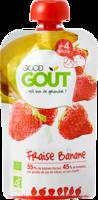 Good Goût Alimentation Infantile Fraise Banane 4 Gourdes/90g à ALES